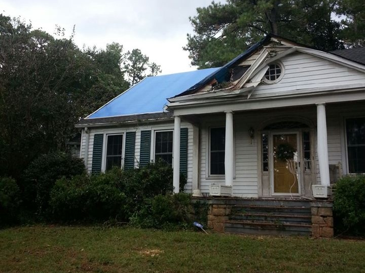storm damage cleanup