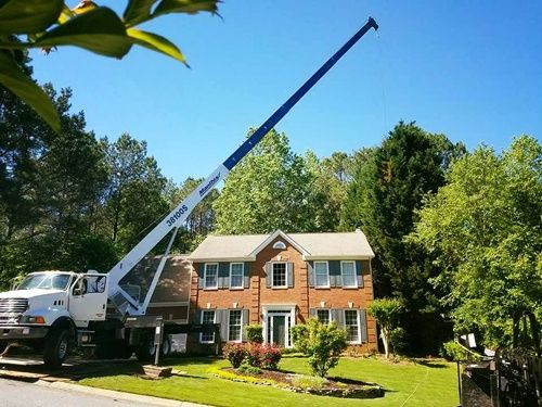 sharp tree service crane