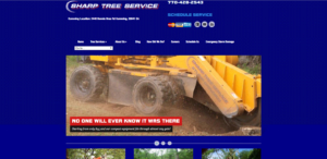 old Sharp Tree Service website